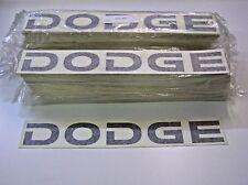 "25 DODGE (BLK / WHITE) 3"" x 21"" NOSE DECALS AUTHENTIC NASCAR 05 RACECAR 082015-2"