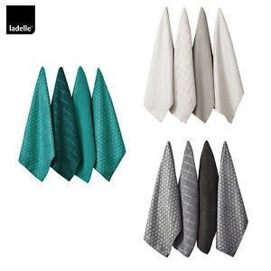 Set of 4 Honeycomb Microfibre Kitchen Towels 43 x 68 cm by Ladelle
