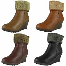 Zip Platforms & Wedges Synthetic Upper Boots for Women