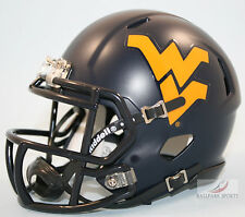 WEST VIRGINIA MOUNTAINEERS (SATIN NAVY) Riddell Speed Mini Helmet