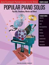"JOHN THOMPSON'S ""POPULAR PIANO SOLOS"" GRADE-4-FOUR MUSIC BOOK/CD-NEW ON SALE!!"