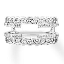 Wrap Jacket 14K White Gold Finish Solitaire 1.50Ct Diamonds Enhancer Ring Guard