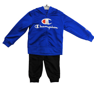 NWT Champion Royal Blue & Black Two Piece Hooded Sweatsuit Boy's Size 4T