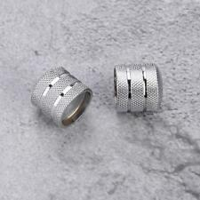2x Silver Metal Dome Volume Tone Knobs for Tele Fender Electric Guitar Bass Part