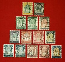 {Thailand< Scott #92-105<Used Complete<F-Vf< Cv $83.00<Scarce!> /epictronic/Jc}