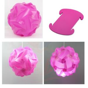 "30Pc SM 10""/25cm CREATIVE MODERN IQ Puzzle Jigsaw Light Lamp Shade Infinity USA"