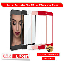 3D Full Cover Tempered Glass Screen Protector Guard for iPhone 6 7 8 Plus X XS