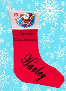 Personalised Christmas Stocking Generously sized with a height of 46 cm