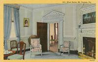 Postcard West Parlor, Mt. Vernon, VA