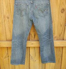 Levis 501 Mens 32 X 30 Distressed Button Fly Jeans