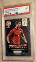 2014 Panini Prizm Soccer World Cup Stars Cristiano Ronaldo PSA 9💎💎