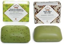 2-PACKS / (1)-Nubian Heritage Raw Shea Butter & (1) - Indian Hemp 5oz. Bar Soaps