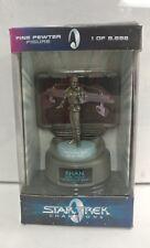 New Star Trek Champions Series 1998 Fine Pewter Figure Statue Khan 4391 of 9998