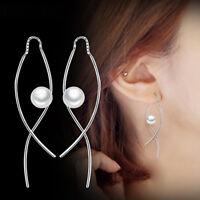 Eg _ Irregular Before & Hänger Kunstperle Damen Ohrringe Anhänger Geschenk Sch