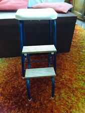 Vintage Kitchen Step Stool Blue and white, in very good condition