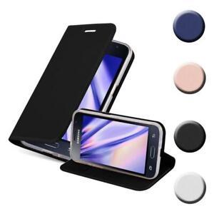 Custodia Cover per Samsung Galaxy J1 2015 Metallico Case Libro Portafoglio