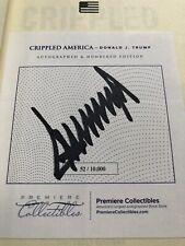 Mit Autogramm,USA President Donald Trumpf Crippled Amerika Unterzeichnet Nummer