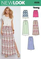 NEW LOOK SEWING PATTERN MISSES' SKIRTS 4 LENGTHS  SIZE 8 - 18 6129