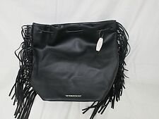 Victoria's Secret Women's Limited Edition Black Fringe Backpack Style Bag NWT