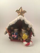 charming tails - friend filled christmas barn figurine - item #98/344 - Signed