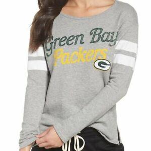 Junk Food Womens NFL Green Bay Packers Low Hem Sweatshirt New XS, S, L, XL, 2XL