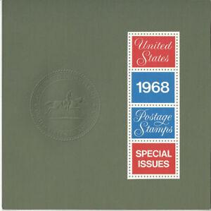 1968 Commemorative Stamp Year Set - Mint NH (Type I) 26 Stamps Folder O-334-890