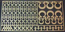 Warhammer 40,000 azul ultramar espacio marina capítulo & escuadrón símbolos de latón grabado