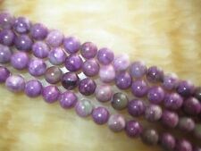 8MM NATURAL purple Argentinia​n Rhodonite Loose Bead Gemstones 15''  ##HK2086