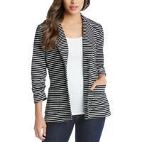 Karen Kane Womens B/W Striped Shirred Office Jacket Blazer XS BHFO 7330