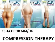 Medical Tights Knee Compression Therapy 10-14 18 mmHg Socks Pantyhose Varicose Stockings 70 Den 1-2 Blacks