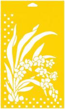 Flessibile Stencil CAKE muro AEROGRAFO DECORAZIONE modello di disegno Fiori Orchidee