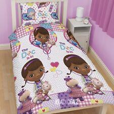 Disney Doc McStuffins Patch Single Rotary Duvet Cover Bed Set Dottie Stuffy