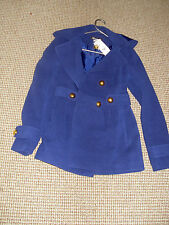CLASSIC  SZ 8 NWT FRENCH NAVY OUTDOOR JACKET COAT FAB STYLE READY TO STEP OUT
