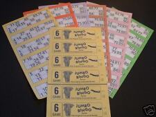 BINGO BOOKS 6 game Jumbo Tickets cards club pub pack of 60 freepost