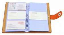 Book Style Credit Card Holder Business Name  ID 300 Cards Organizer Storage