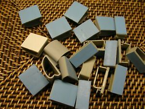 50 Pieces Gray Plastic Self Adhesive Wire Cord Cable Clip Holder Clamps NEW