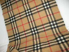 Large Burberry Scarf, Camel Nova Check. 100% Lambswool.