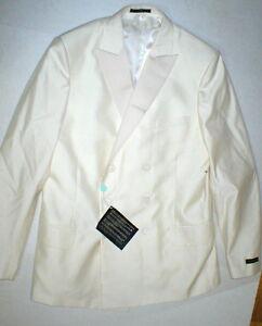 New NWT 54 Mens Suit Pants Jacket Blazer 44 Italy Valentino Cream White Designer