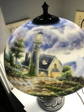 "Thomas Kinkade Lamp "" A Light In The Storm�"