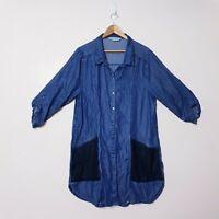 Virtuelle Taking Shape TS Plus Size 18 Blue Denim Tee T Shirt Dress