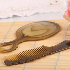 2Pcs/Set Makeup Plastic Resin Hair Comb Mirror Portable Hairdressing Hair Combs
