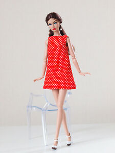 Red polka dot A-silhouette dress for Poppy Parker, Nu face, Nippon by Olgaomi