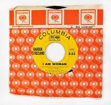 "New listing Barbra Streisand ~ I Am Woman & People 1964 7"" 45 rpm Vinyl Record Vg+ Columbia"