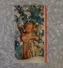 Goebel Hummel Figurine #83 Angel Serenade w/Lamb Vtg Plastichrome Christmas Card