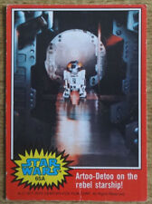 Topps Star Wars trading card red series 65A, Artoo-Detoo on the rebel starship!
