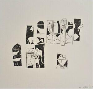 Yosl BERGNER Noah's Ark 1956 - Signed Original Screenprint, Minimal Modern + LOP