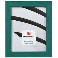 "Craig Frames Gesso, 1.25"" Turquoise Plain Wooden Picture Frame"