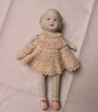 Antique Porcelain Doll Silky Crocheted Dress and Knickers Goddess Jade Dolls