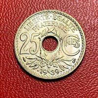 #3658 - RARE - 25 centimes .1939. FDC sortie de rouleau - FACTURE