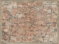 Digione Antico Città City Plan de la Ville. Côte-d'Or. Bourgogne CARTE 1909 mappa